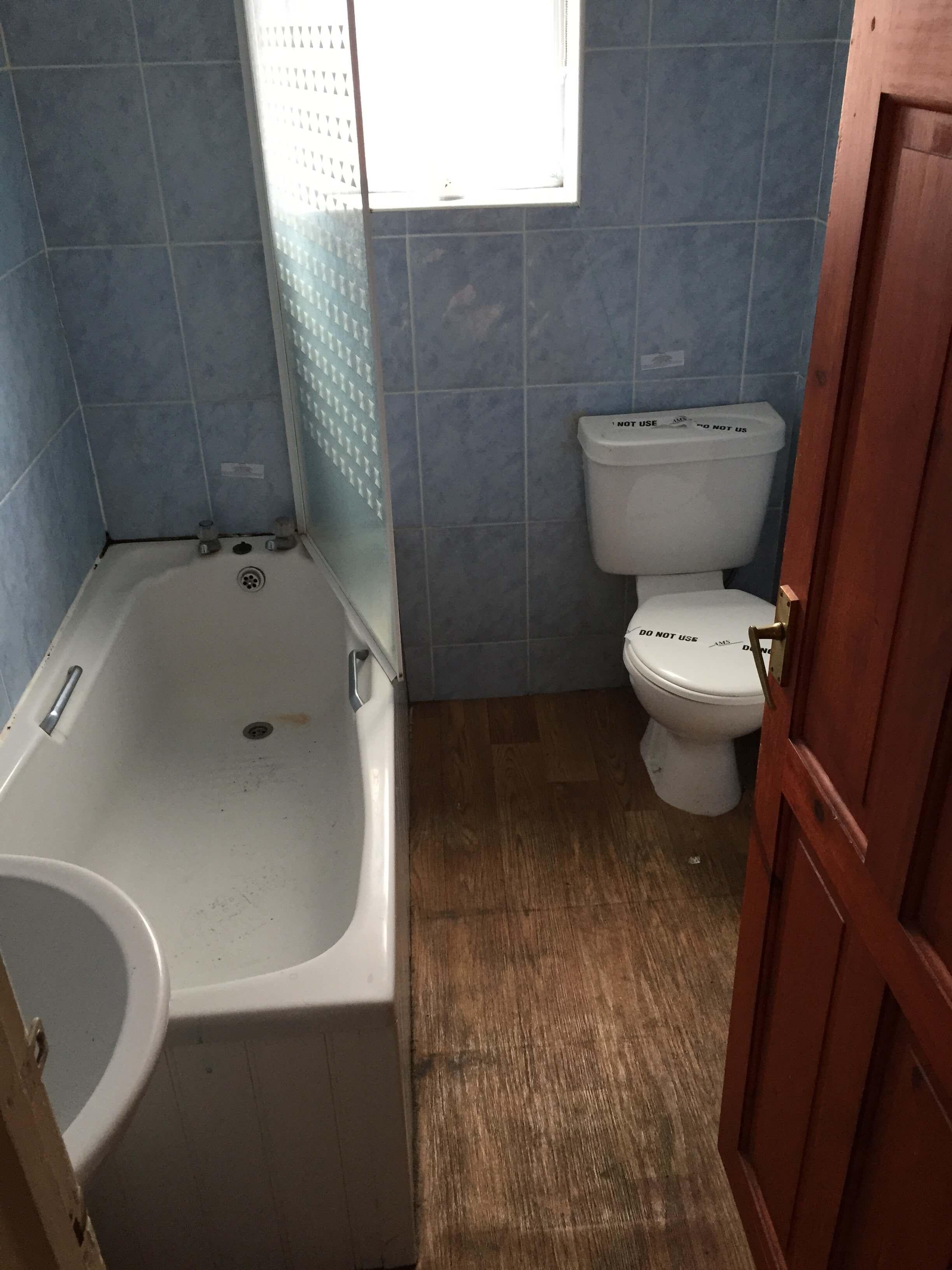 Bathroom before interior decorating