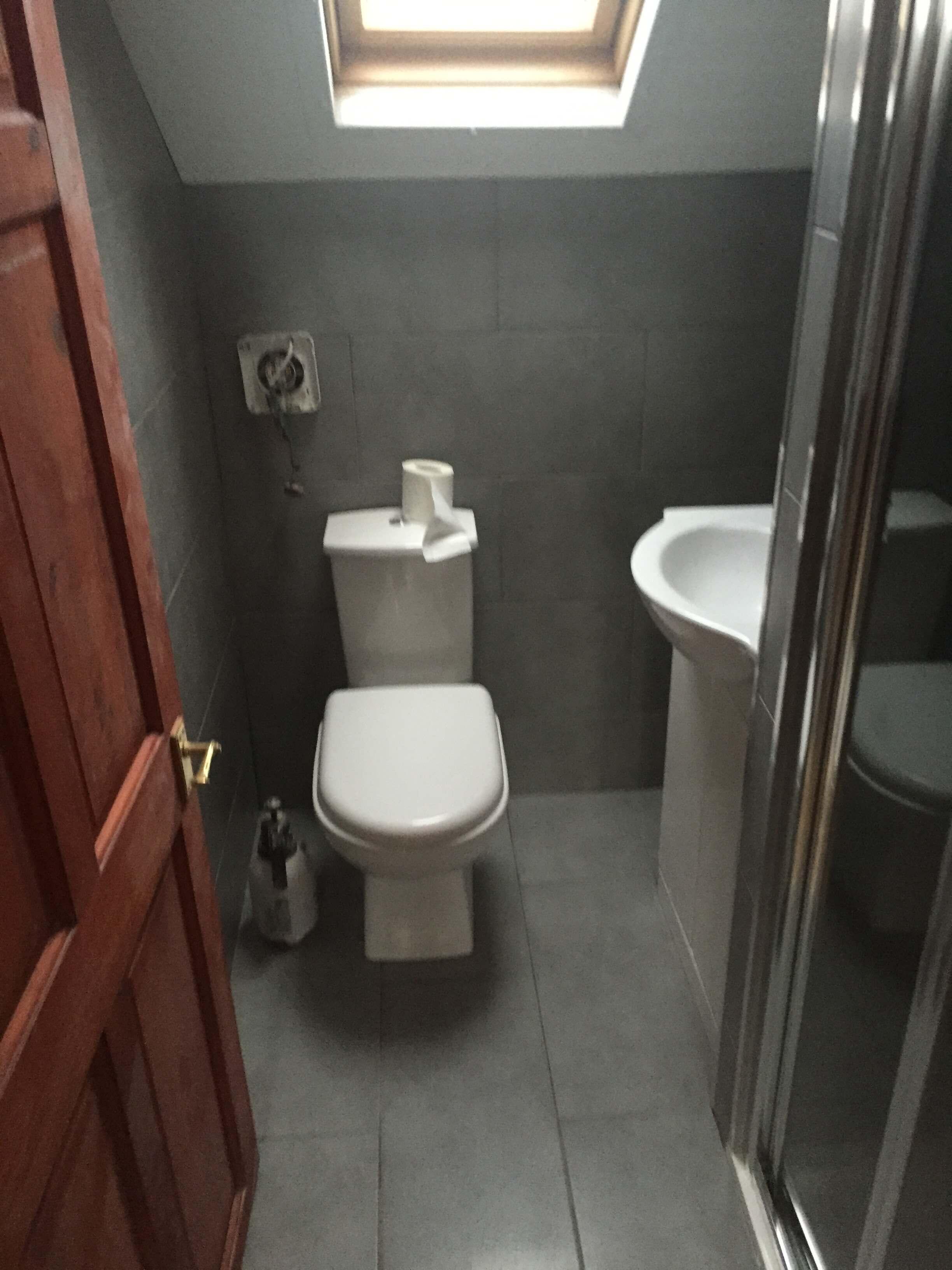 Bathroom after interior decorating