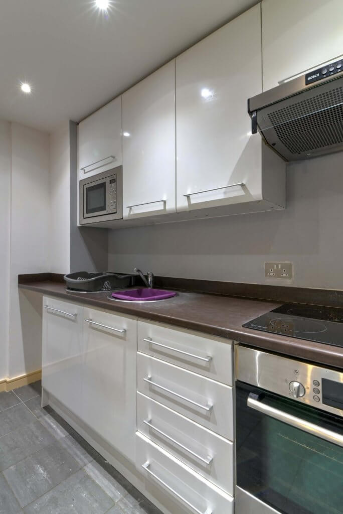 Kitchen in Newcastle, sink and cupboards