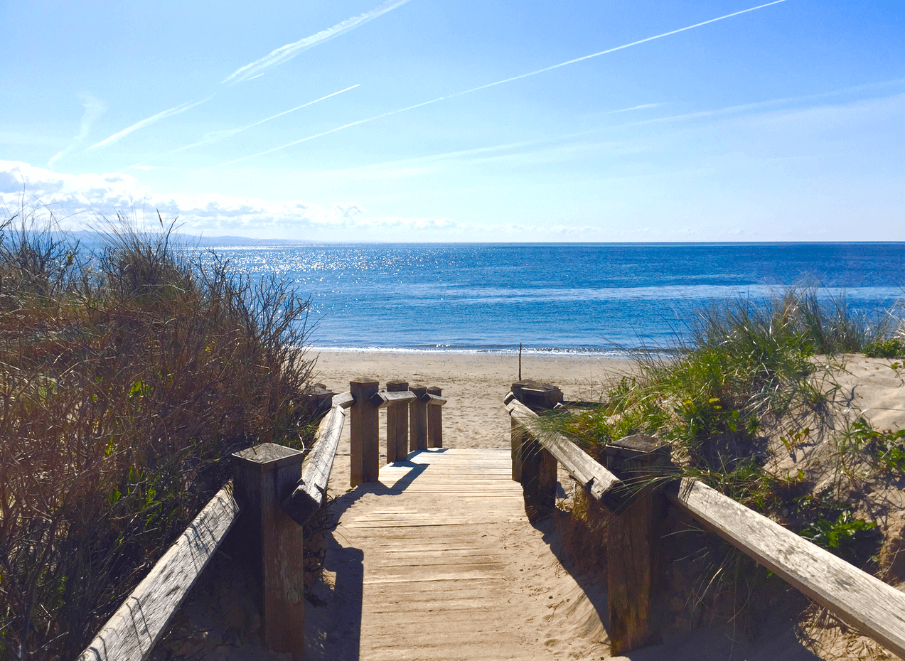 Beach Access Walkway From Furnished Holiday Let
